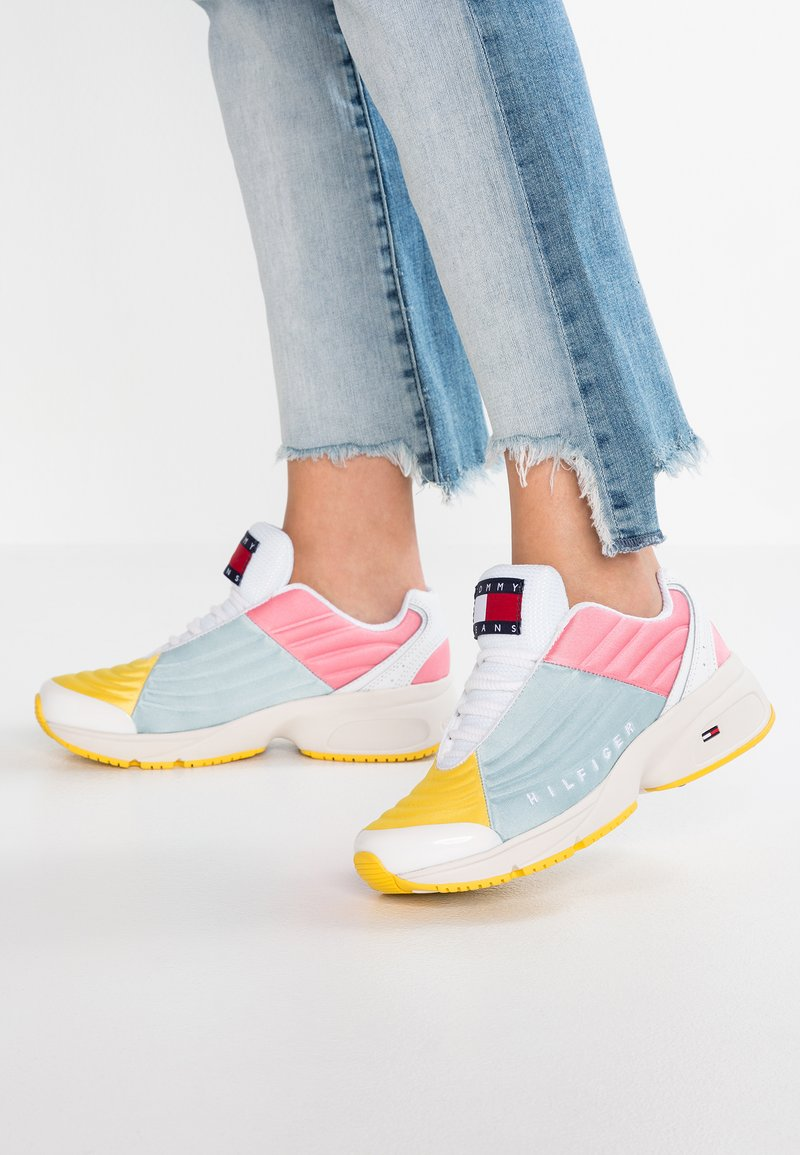 Tommy Jeans - COLOR BLOCK - Trainers - pink