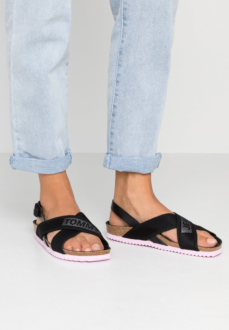 Tommy Jeans - TECHNICAL SLING BACK  - Sandals - black