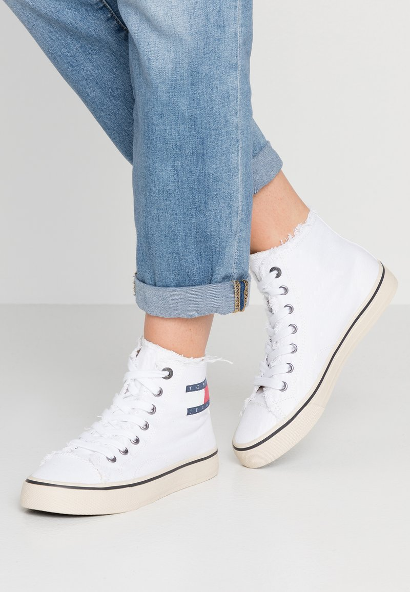 Tommy Jeans - Zapatillas altas - white