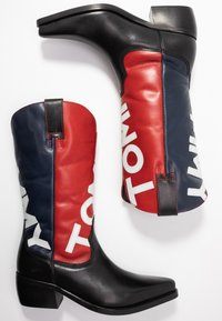 Tommy Jeans - HERITAGE COWBOY BOOT - Santiags - blue - 3