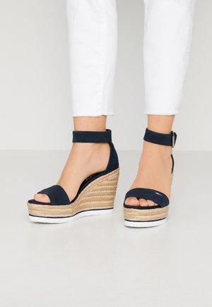 LAORA - Sandály na vysokém podpatku - twilight navy