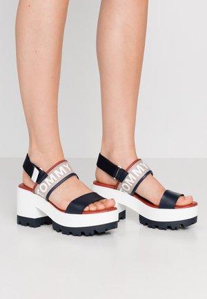 JANE - Platform sandals - twilight navy