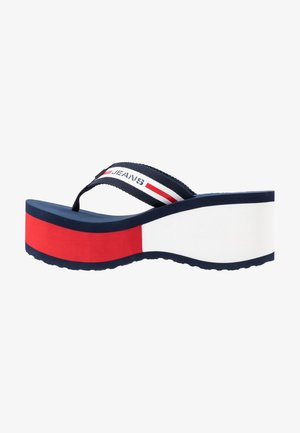 CHUNKY TAPE BEACH SANDAL - Infradito - twilight navy