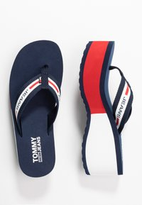 Tommy Jeans - CHUNKY TAPE BEACH SANDAL - T-bar sandals - twilight navy - 3