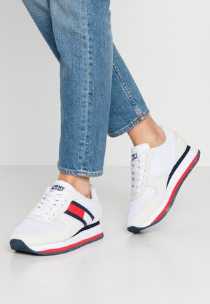 FLATFORM RUNNER COLOUR SNEAKER - Baskets basses - red/white/blue