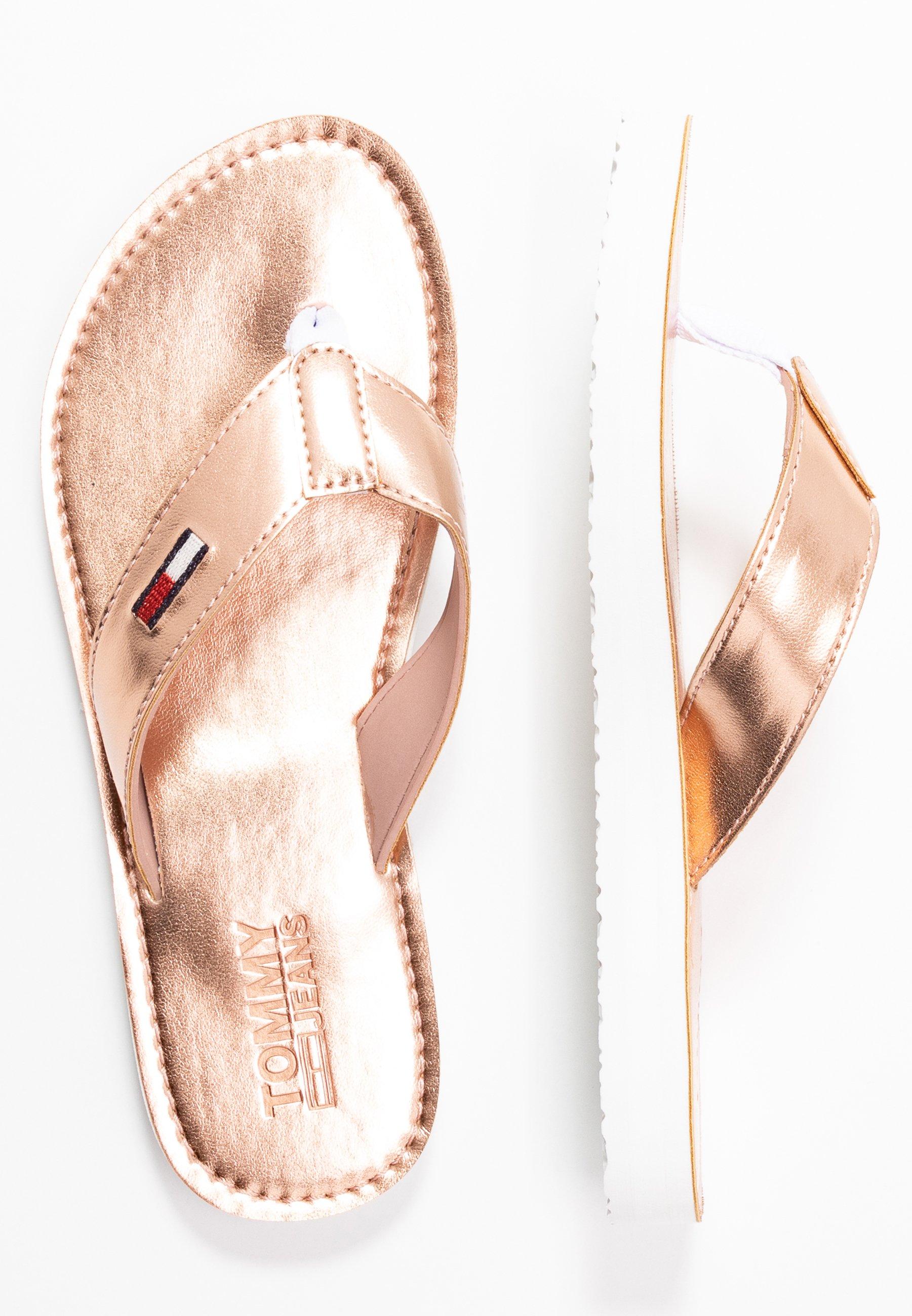 Tommy Jeans Metallic Beach Sandal - Tåsandaler Rose Gold