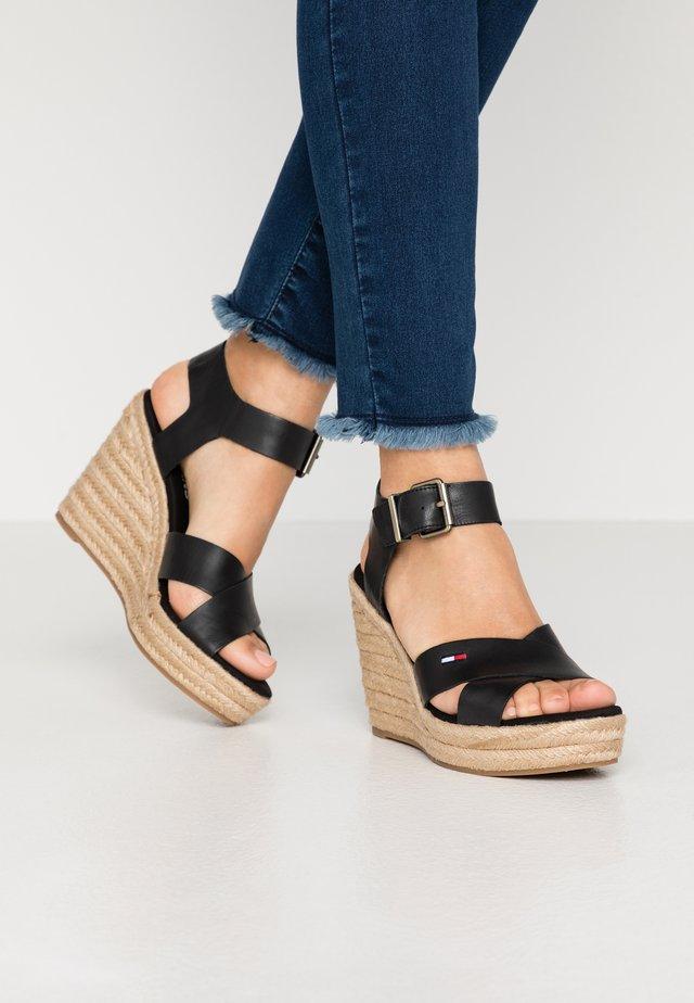 LUNA - Højhælede sandaletter / Højhælede sandaler - black
