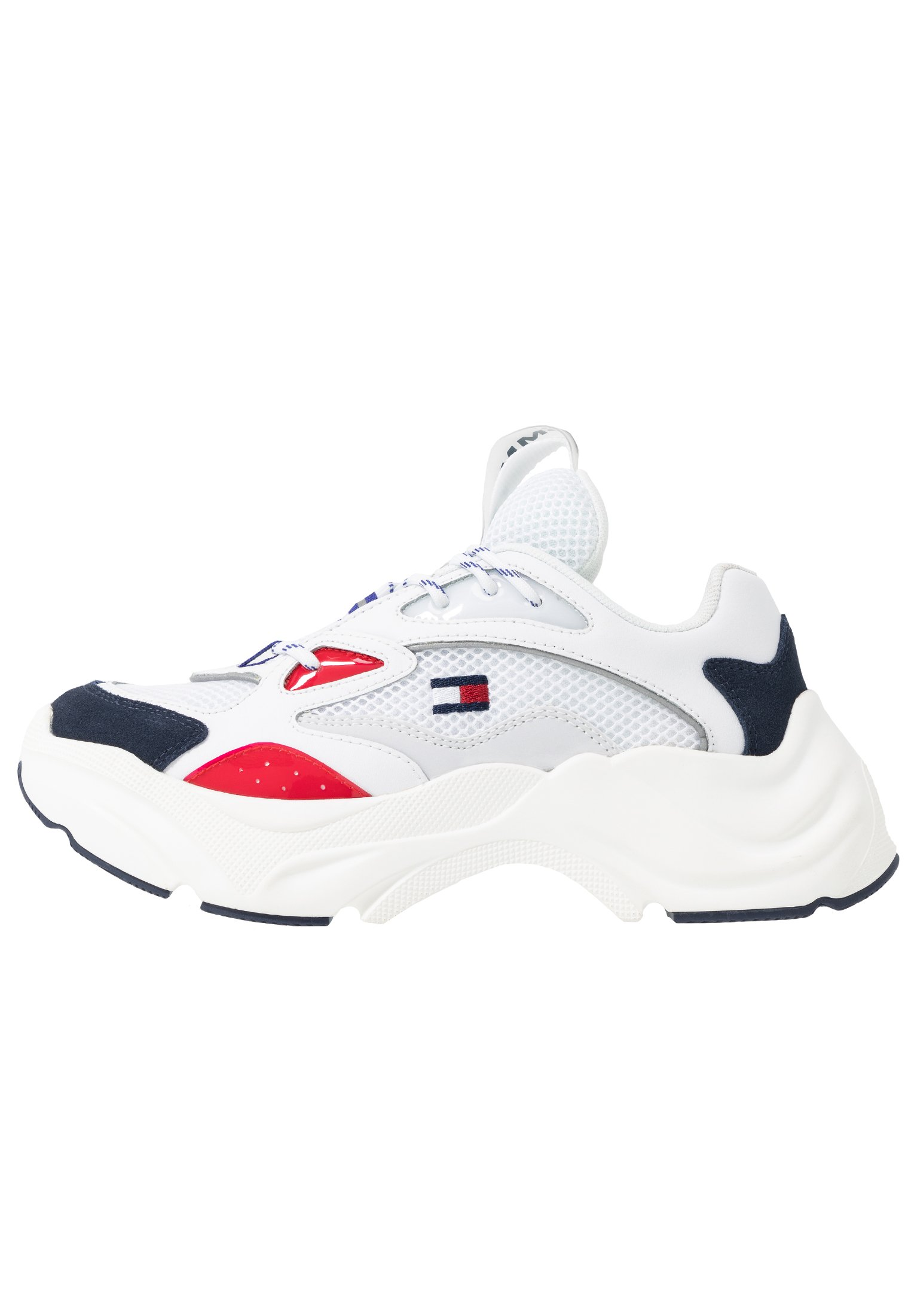 Tommy Jeans Wmns Fashion Chunky Runner - Sneakers Red/white/blue