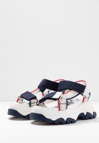 Tommy Jeans - POP COLOR HYBRID SANDAL - Platform sandals - twilight navy - 4