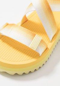 Tommy Jeans - DEGRADE TAPE FLATFORM - Platform sandals - lemon - 2