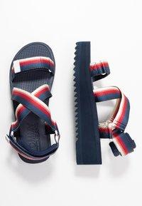 Tommy Jeans - DEGRADE TAPE FLATFORM - Sandalen met plateauzool - twilight navy - 3