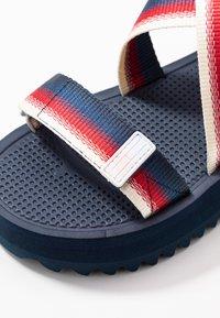 Tommy Jeans - DEGRADE TAPE FLATFORM - Sandalen met plateauzool - twilight navy - 2