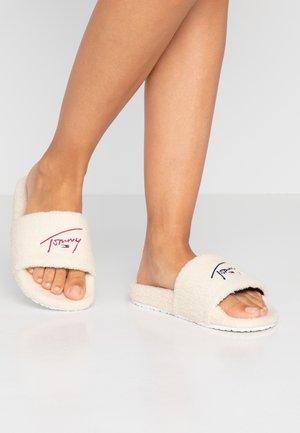 SIGNATURE SLIDE - Pantofole - white