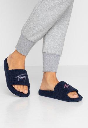 SIGNATURE SLIDE - Domácí obuv - blue