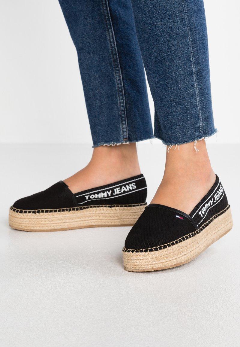 Tommy Jeans - Espadrilles - black