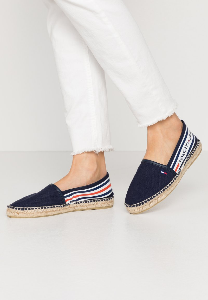 Tommy Jeans - CHUNKY TAPE ESPADRILLE - Espadrilles - twilight navy