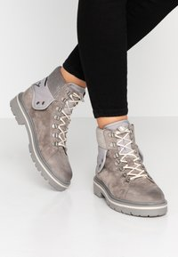 Tommy Jeans - REFLECTIVE DETAIL LACE UP BOOT - Lace-up ankle boots - grey - 0
