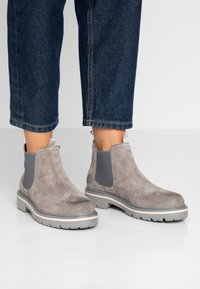 Tommy Jeans - REFLECTIVE DETAIL CHELSEA BOOT - Ankle boots - grey - 0