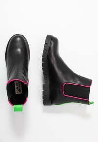 Tommy Jeans - NEON DETAIL CHELSEA BOOT - Botki - black - 3