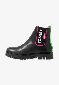 Tommy Jeans - NEON DETAIL CHELSEA BOOT - Botines - black - 1