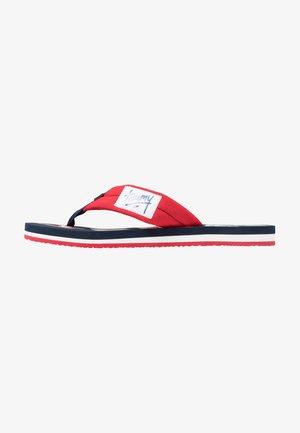 LOGO BEACH - Sandalias de dedo - red