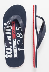 Tommy Jeans - BEACH SANDAL - Pool shoes - red - 1