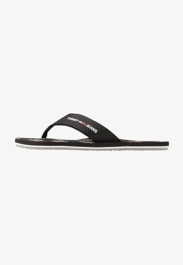 PRINT BEACH  - Sandaler m/ tåsplit - black