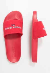 Tommy Jeans - SLIDE - Pantofle - red - 1