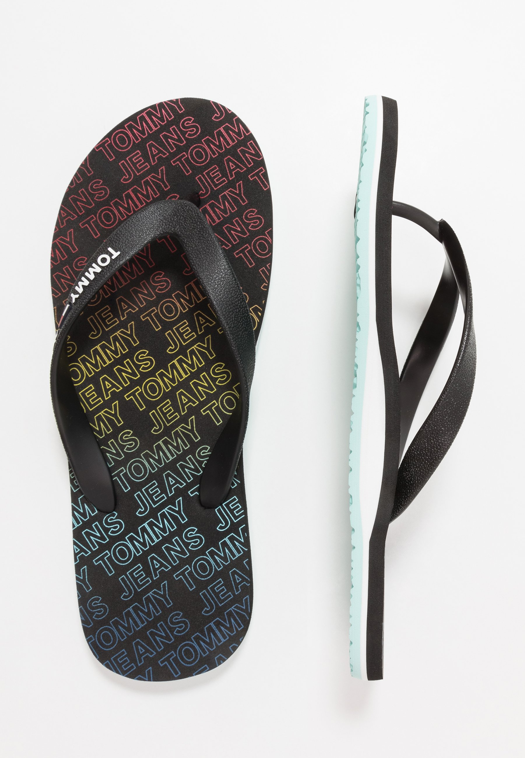 Tommy Jeans REPEAT PRINT BEACH - Tongs - black