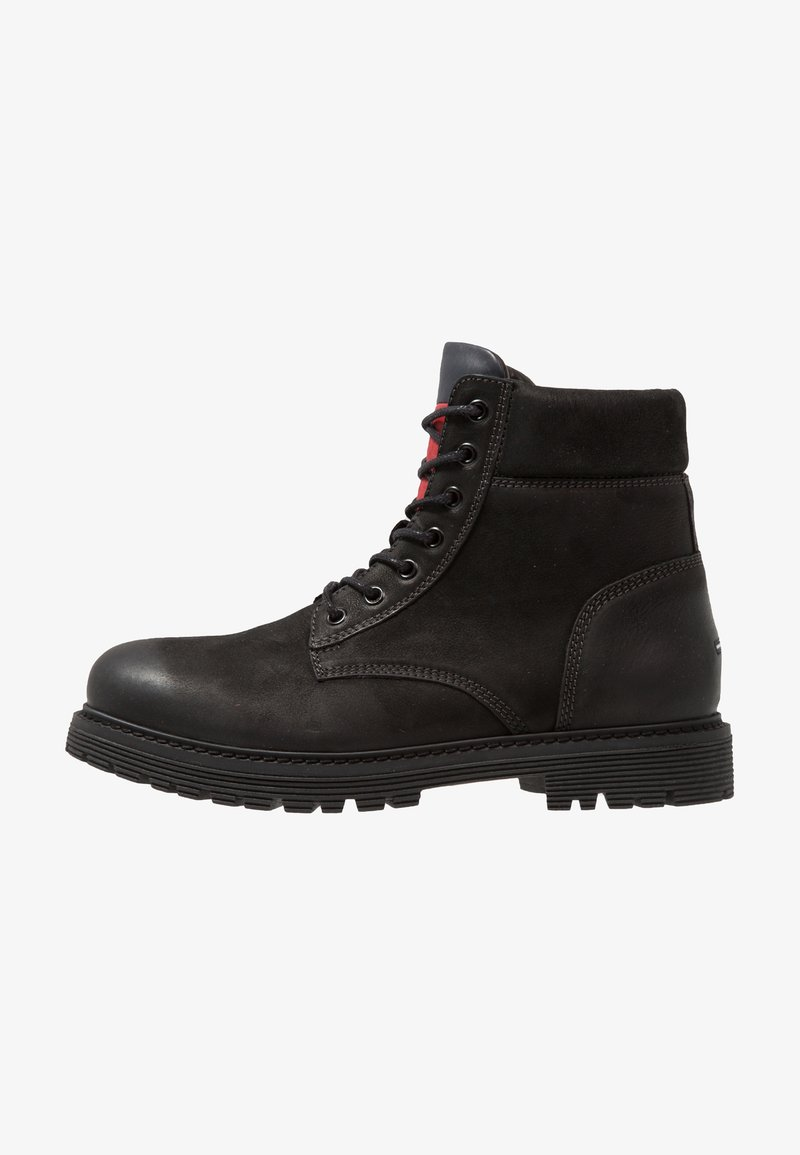 Tommy Jeans - ICONIC BOOT - Lace-up ankle boots - black