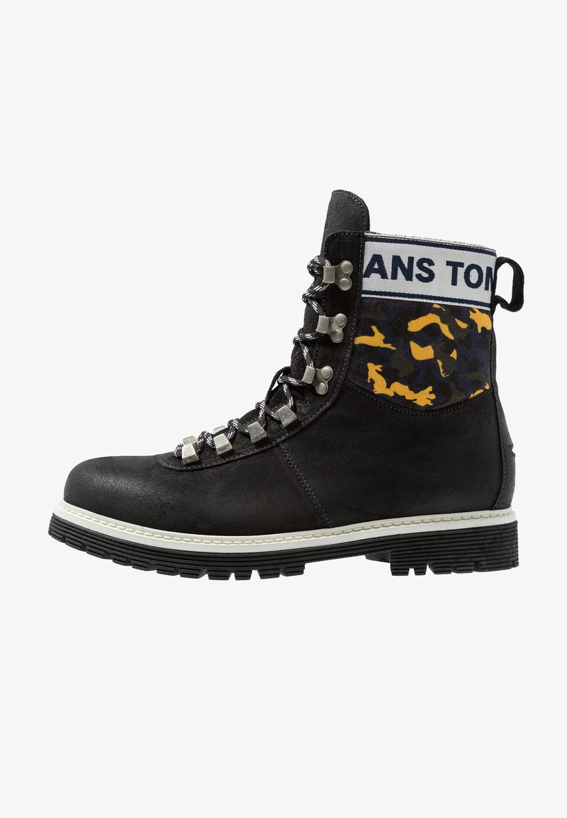 Tommy Jeans - HIKING BOOT - Lace-up ankle boots - black