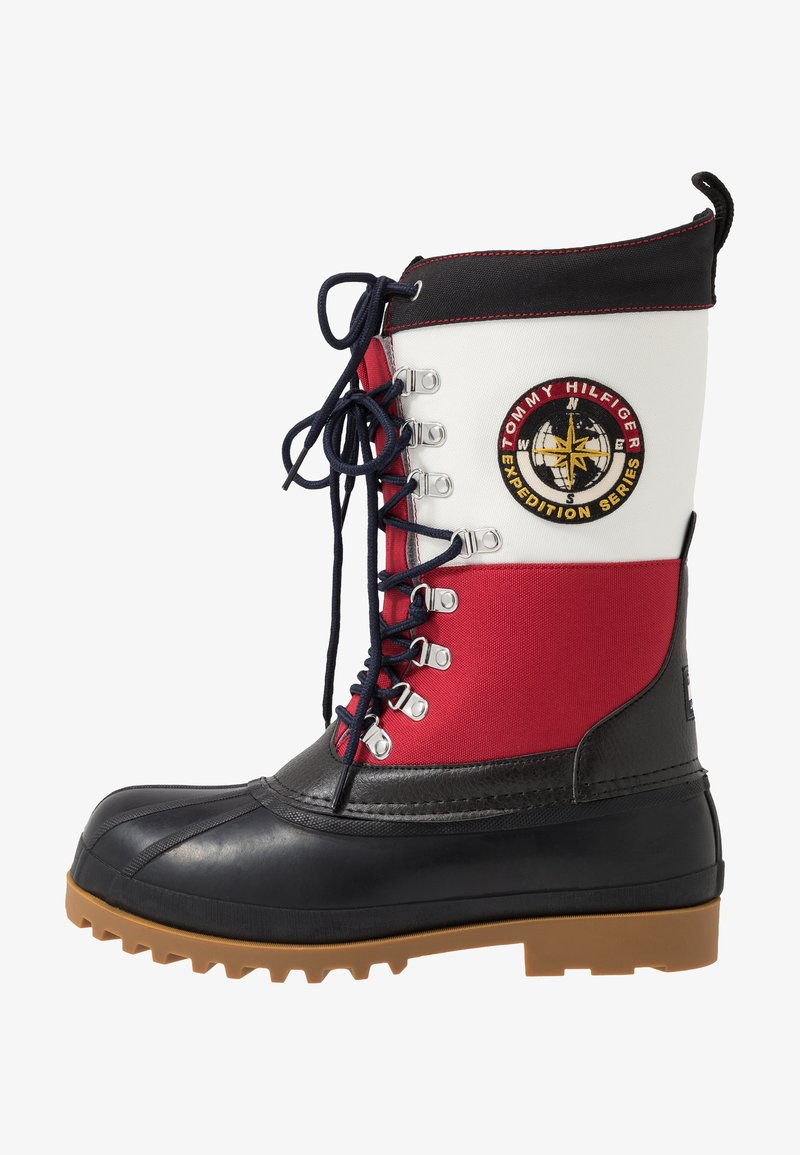 Tommy Jeans - HERITAGE MENS DUCKBOOT - Winter boots - red