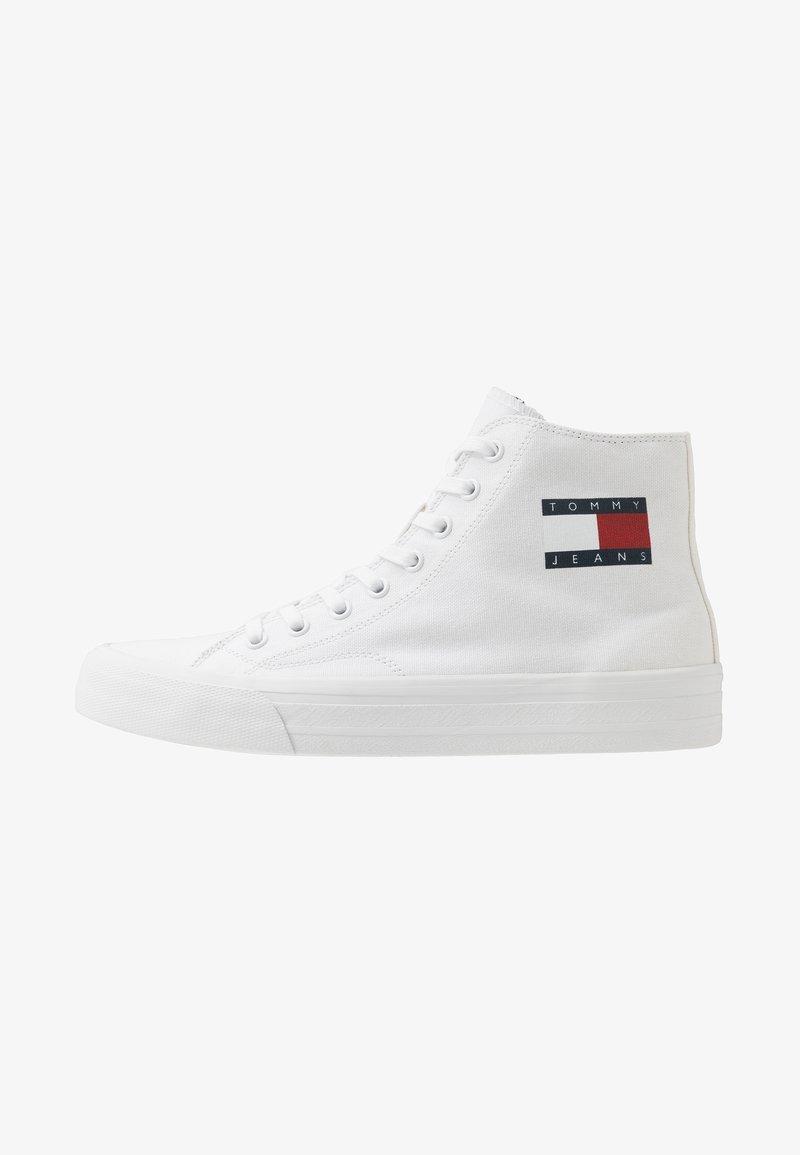 Tommy Jeans - MIDCUT LACE UP - Vysoké tenisky - white