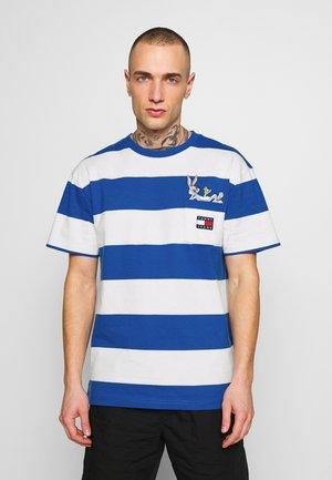 LOONEY TUNES STRIPE TEE - Print T-shirt - plaster/blue