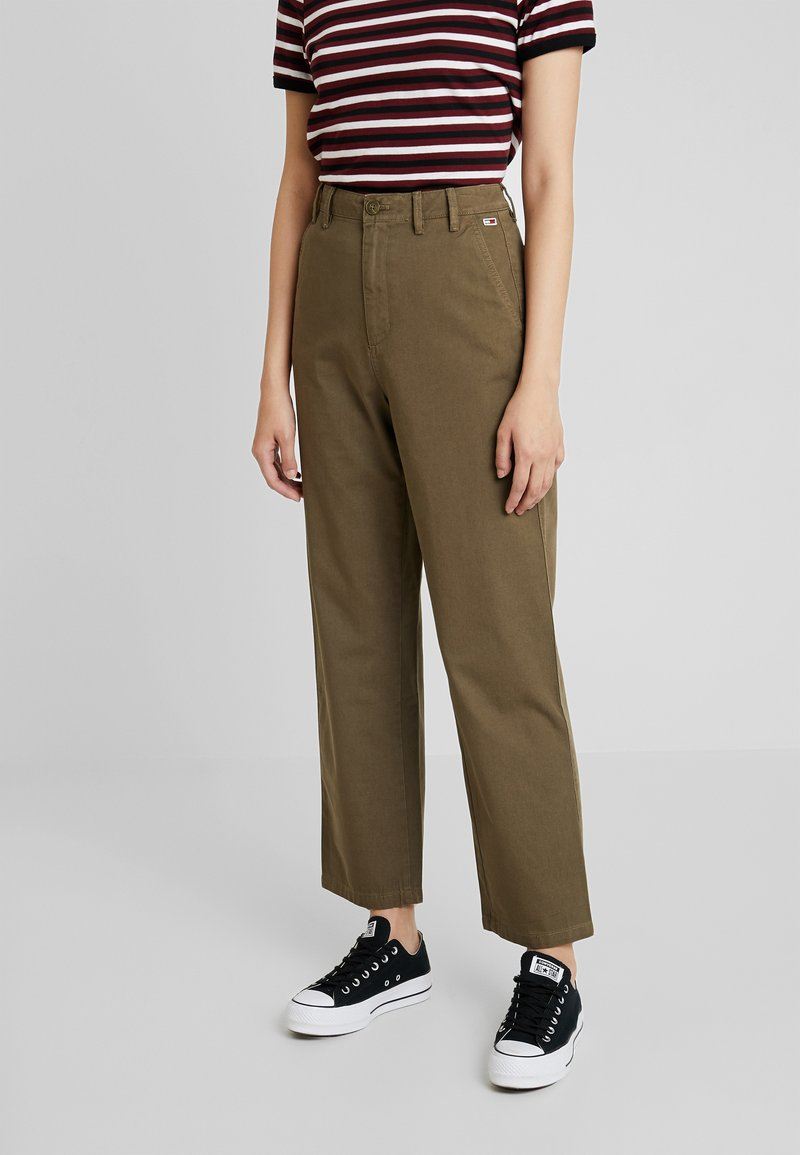 Tommy Jeans - HIGH RISE PANT - Trousers - capers