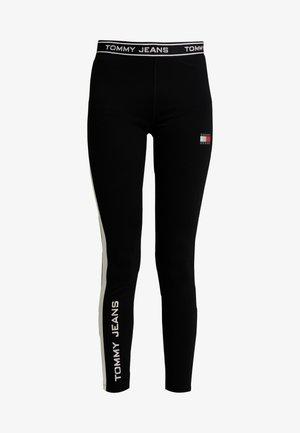 METALLIC BLOCK - Leggings - Trousers - black
