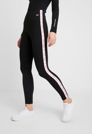 TAPE DETAIL - Leggings - Trousers - tommy black