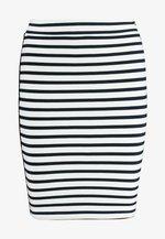 PIPING BODYCON SKIRT - A-line skirt - classic white/black iris