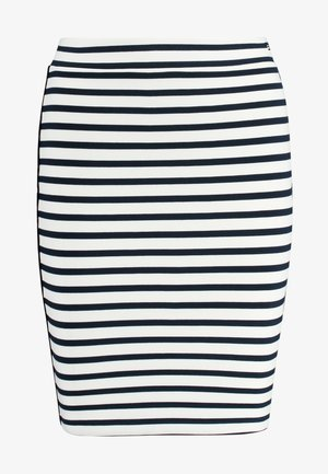 PIPING BODYCON SKIRT - A-linjainen hame - classic white/black iris