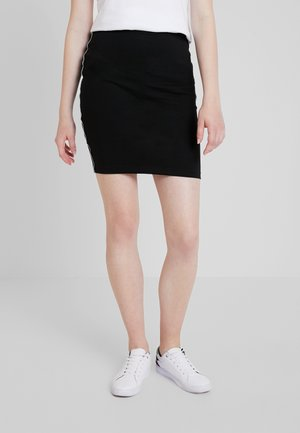 PIPING BODYCON SKIRT - Jupe trapèze - black