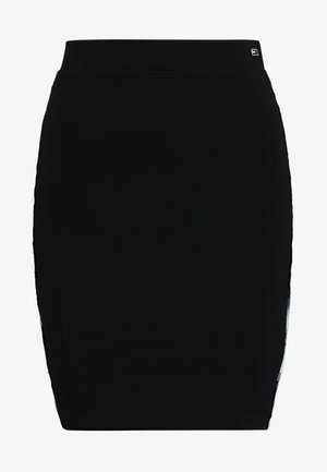 PIPING BODYCON SKIRT - A-line skirt - black