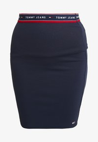 Tommy Jeans - BODYCON SKIRT - Minijupe - black iris - 3