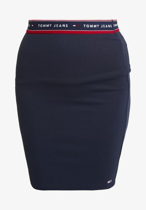BODYCON SKIRT - Minisukně - black iris
