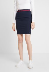 Tommy Jeans - BODYCON SKIRT - Minijupe - black iris - 0