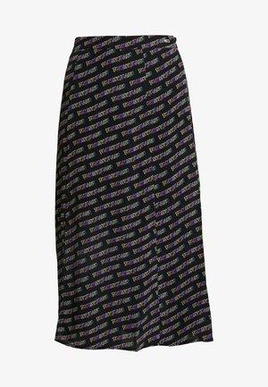 OUTLINE PRINT SKIRT - Jupe trapèze - tommy black