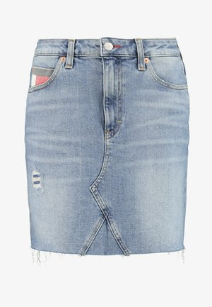 SHORT SKIRT - Minifalda - stone blue denim