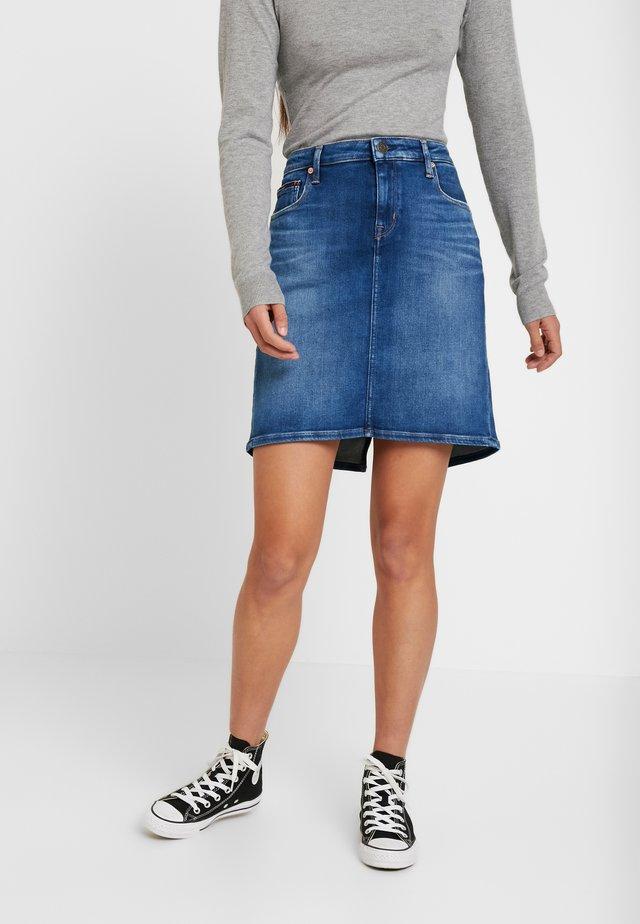 CLASSIC SKIRT - A-line skirt - blue denim