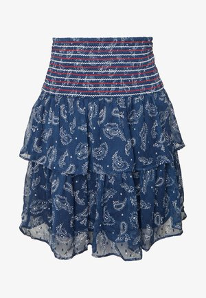 SMOCK DETAIL SKIRT - Plooirok - dark blue