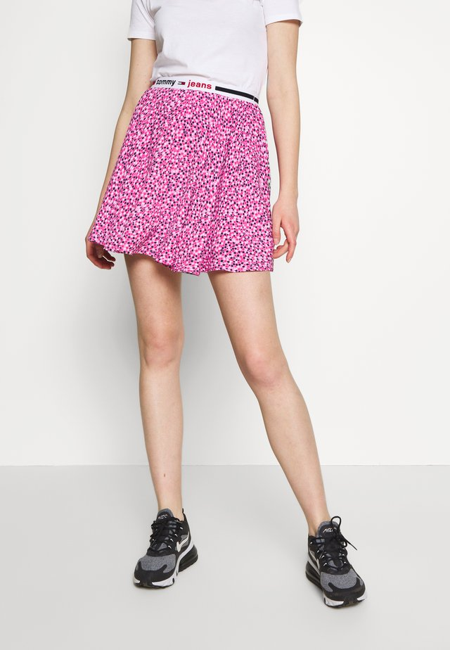 MINI SKIRT - A-line skirt - ditsy floral print/pink daisy