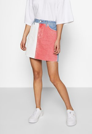 SHORT SKIRT TMYFLG - Áčková sukně - coloured denim